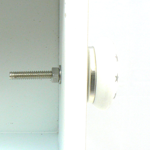 Bouton de meuble toiles en porcelaine blanche boutons for Meuble 05 etoiles