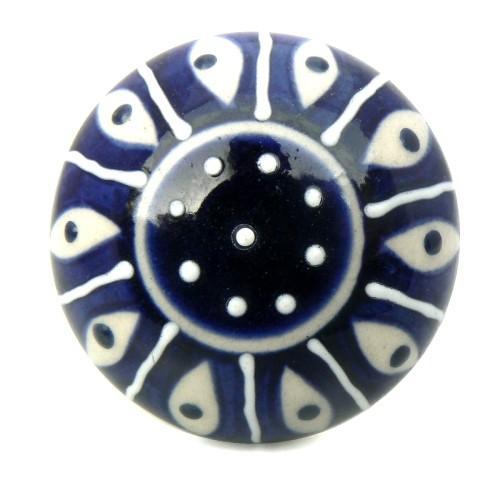 Bouton De Meuble Istanbul Porcelaine Bleue Boutons