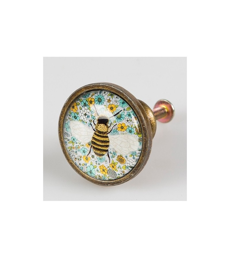 Bouton de meuble et commode flowers abeille boutons - Bouton de meuble original ...