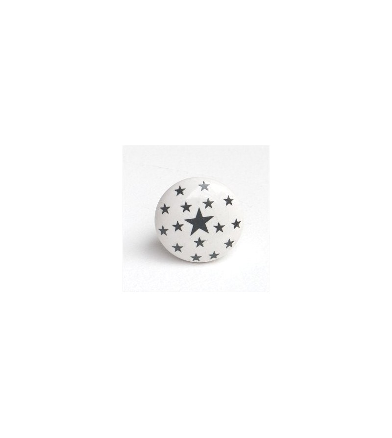 bouton de meuble toiles en porcelaine blanche boutons. Black Bedroom Furniture Sets. Home Design Ideas