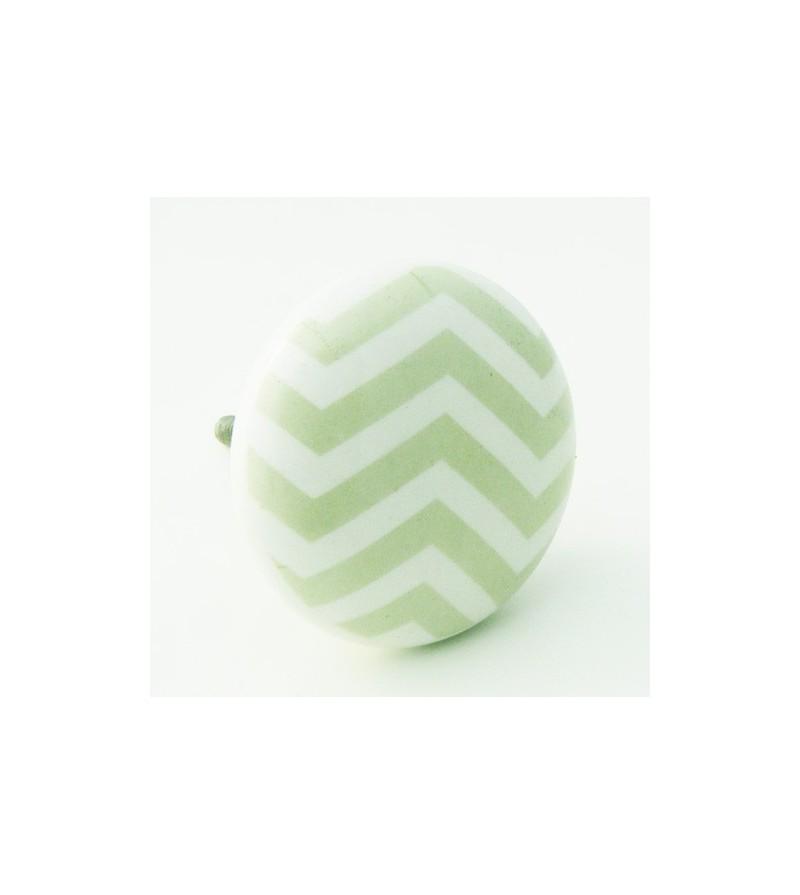 bouton de meuble et commode chevron vert pastel boutons. Black Bedroom Furniture Sets. Home Design Ideas