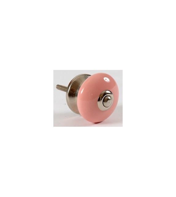 bouton de porte deco rose uni en porcelaine boutons. Black Bedroom Furniture Sets. Home Design Ideas