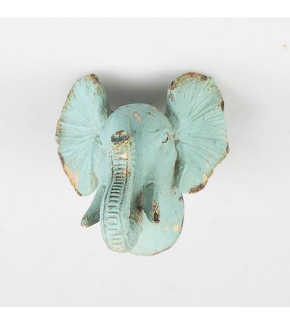Bouton de meuble t te d 39 l phant collection boudoir boutons - Tete d elephant mural ...