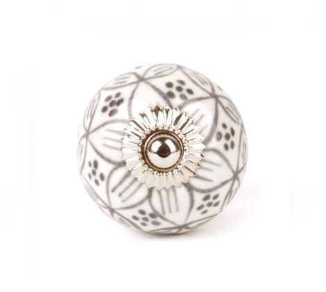 Bouton de meuble g ranium rond en porcelaine boutons - Bouton de meuble porcelaine ...