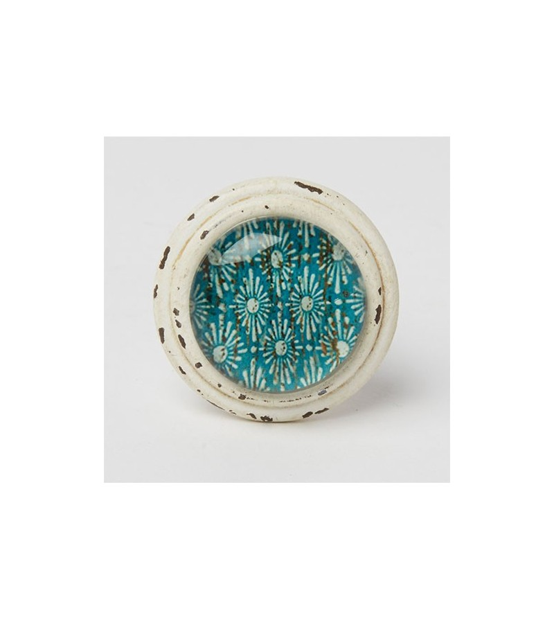 Bouton de meuble essaouira cabochon marine boutons - Bouton de meuble en verre ...