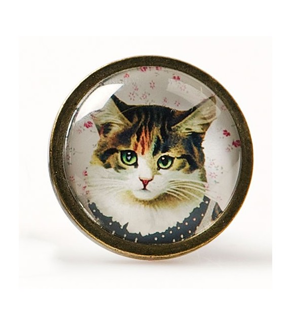 Bouton de meuble chat en robe - Cat Dress