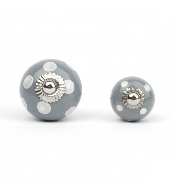 bouton de meuble pois blancs et porcelaine color e boutons. Black Bedroom Furniture Sets. Home Design Ideas