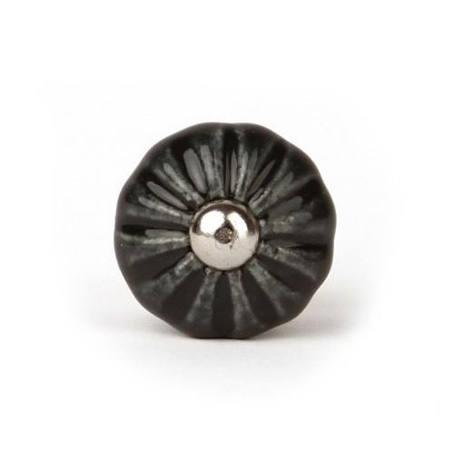 Bouton De Meuble Feuilles Forme Citrouille Porcelaine