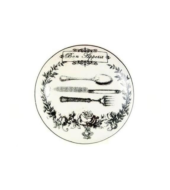 Bouton de meuble Bon Appétit en porcelaine