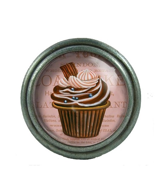 Bouton de meuble cupcake marron au chocolat d co bistro for Bouton poussoir meuble
