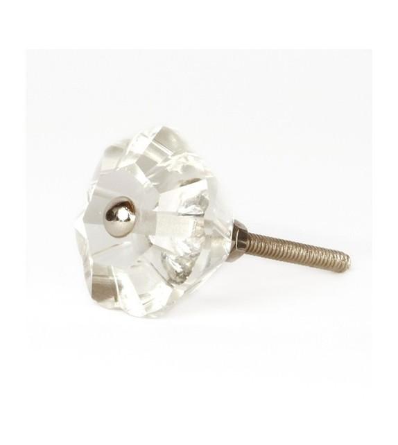 bouton de meuble diamant fleur transparent en verre boutons. Black Bedroom Furniture Sets. Home Design Ideas