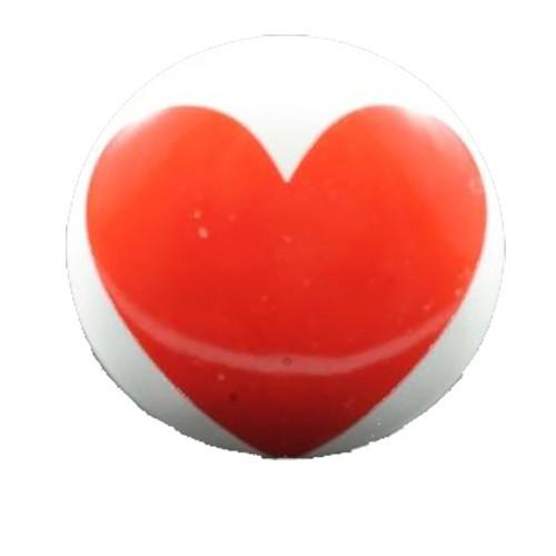 Bouton De Meuble Impression Coeur En Porcelaine Boutons