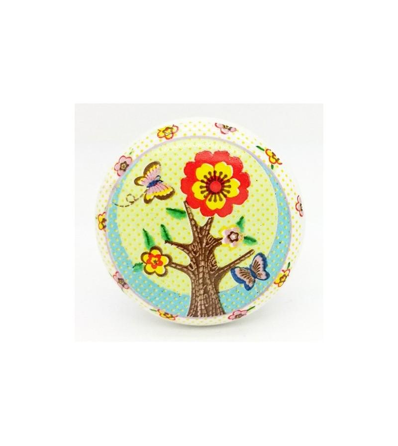 Bouton de meuble enfant arbre en fleur boutons for De l arbre au meuble