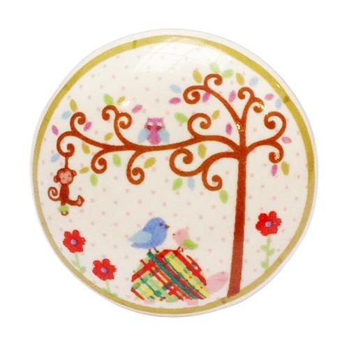 bouton de meuble enchant arbre de la for t en porcelaine boutons. Black Bedroom Furniture Sets. Home Design Ideas