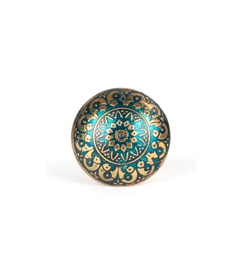 Bouton de meuble orient vert fonc boutons for Meuble oriental