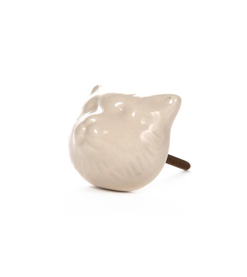 Bouton de meuble t te de chat en porcelaine boutons for Combouton de porte cuisine