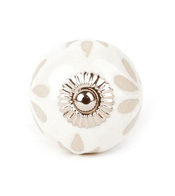 bouton de porte en porcelaine fleur boutons. Black Bedroom Furniture Sets. Home Design Ideas