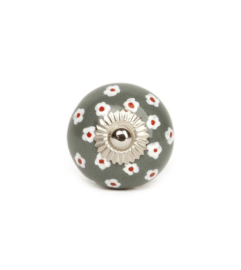 Bouton de meuble petites fleurs en porcelaine boutons - Bouton en porcelaine pour meuble ...