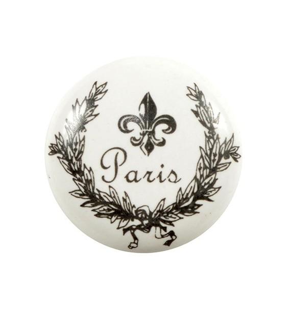 bouton de meuble paris et blason lys en porcelaine boutons. Black Bedroom Furniture Sets. Home Design Ideas