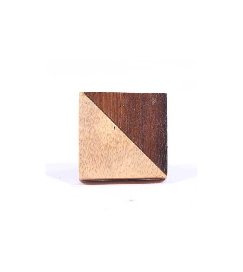 bouton de meuble carr bi couleurs en bois boutons. Black Bedroom Furniture Sets. Home Design Ideas