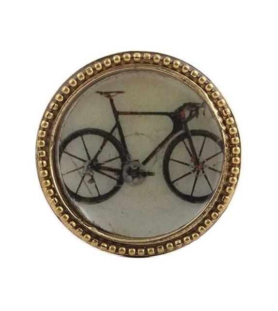 Bouton de meuble Bicyclette Vintage doré en métal