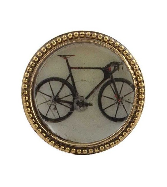 bouton de meuble bicyclette vintage dor en m tal boutons. Black Bedroom Furniture Sets. Home Design Ideas