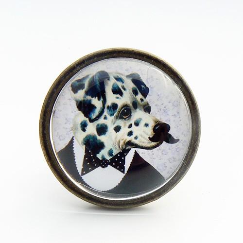 Bouton de meuble vintage chien dalmatien boutons - Bouton de meuble original ...