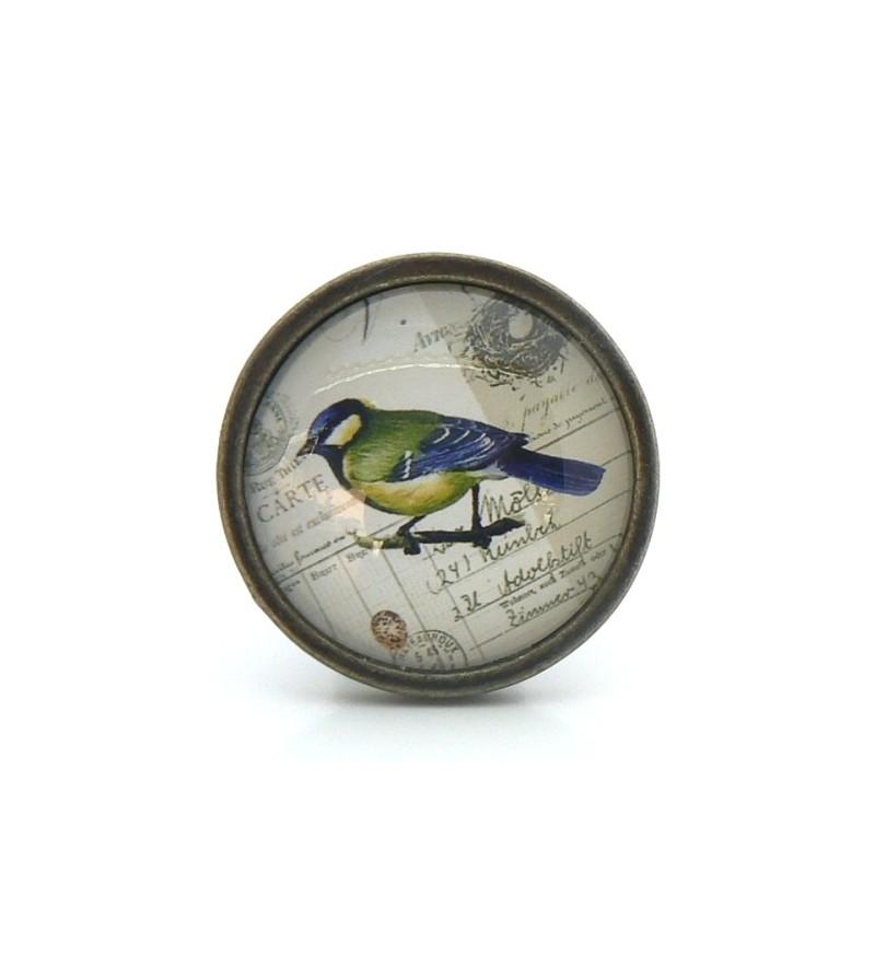 bouton de meuble oiseau bleu collection vintage. Black Bedroom Furniture Sets. Home Design Ideas
