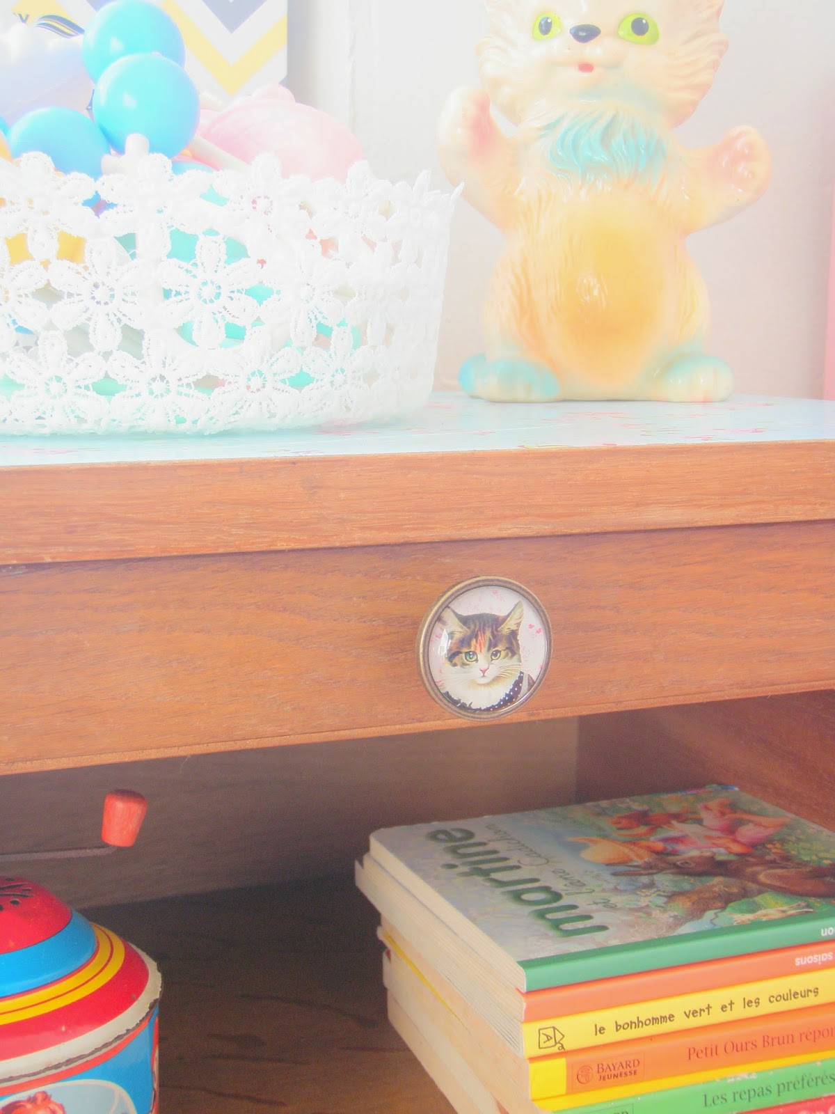 Relooking meuble de chevet vintage