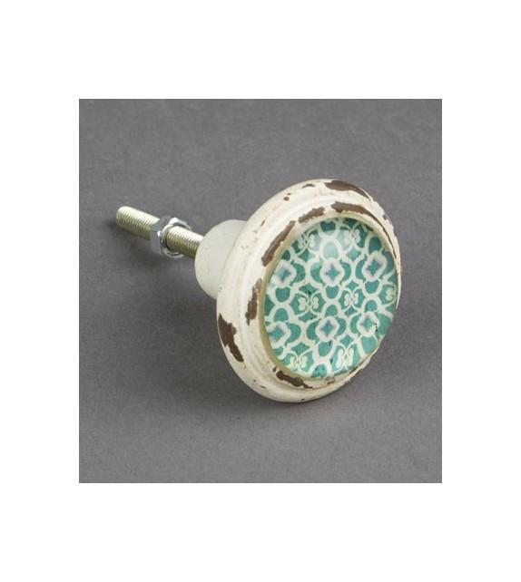Bouton de meuble Marrakech vert - Boutons Mandarine