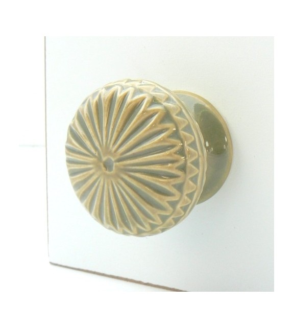 Bouton de meuble Eloise en porcelaine, 6 couleurs disponibles