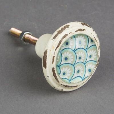bouton de meuble marrakech bleu turquoise boutons. Black Bedroom Furniture Sets. Home Design Ideas