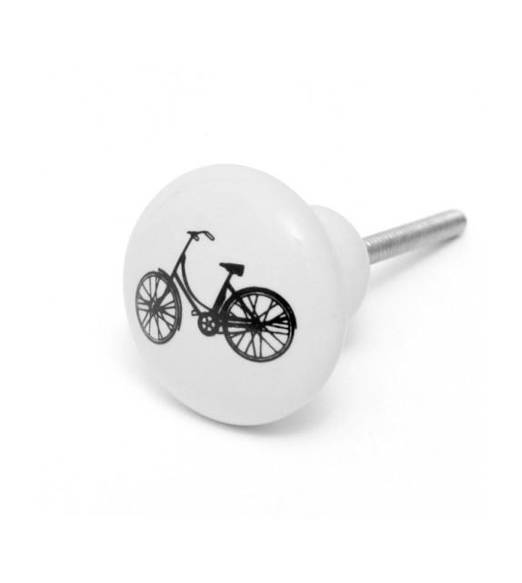 Bouton de meuble Vélo noir