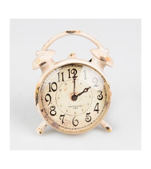 Bouton de meuble Horloge rétro vintage crème