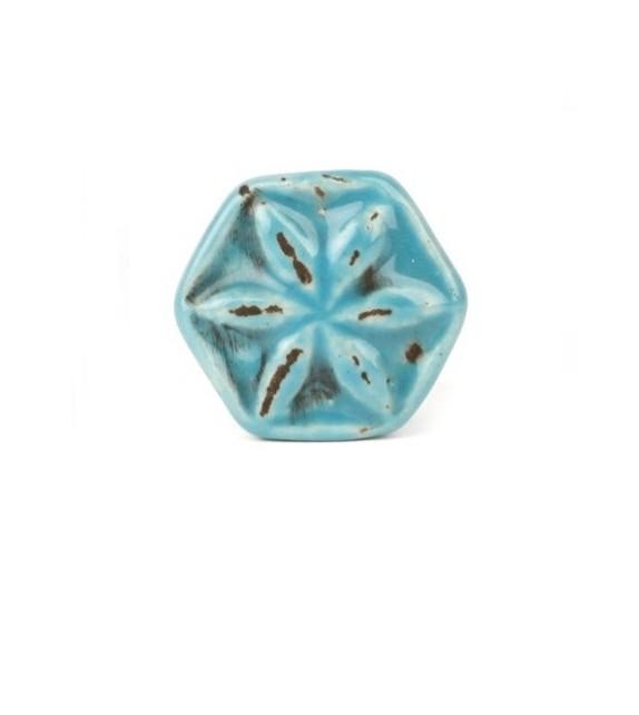 Bouton de meuble fleur de Badiane - 4 couleurs disponibles