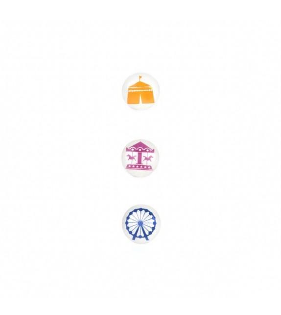 Bouton de meuble Collection Cirque - À la Foire ! - lot de 3 - Boutons Mandarine
