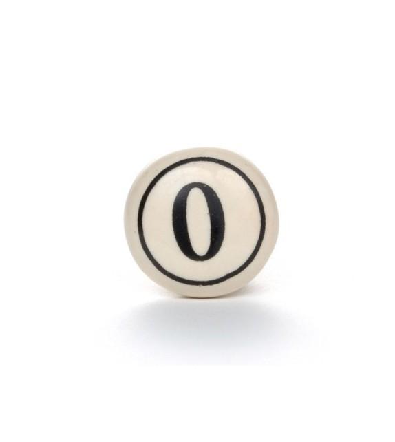 Bouton de meuble Numéro vintage de 0 à 9 - Boutons Mandarine