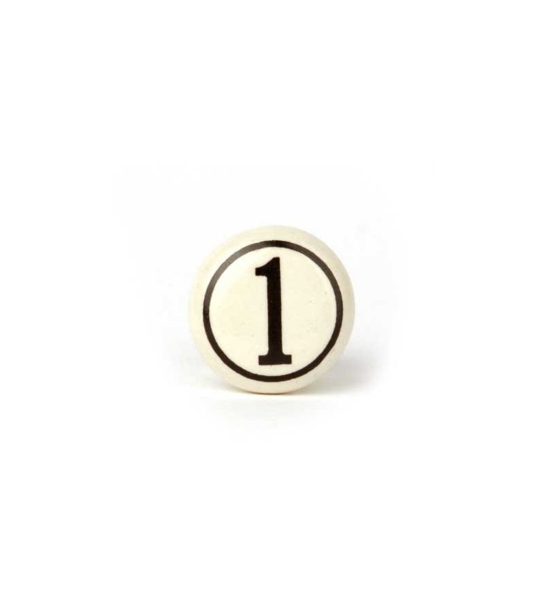 bouton de meuble num ro vintage de 0 9 boutons. Black Bedroom Furniture Sets. Home Design Ideas
