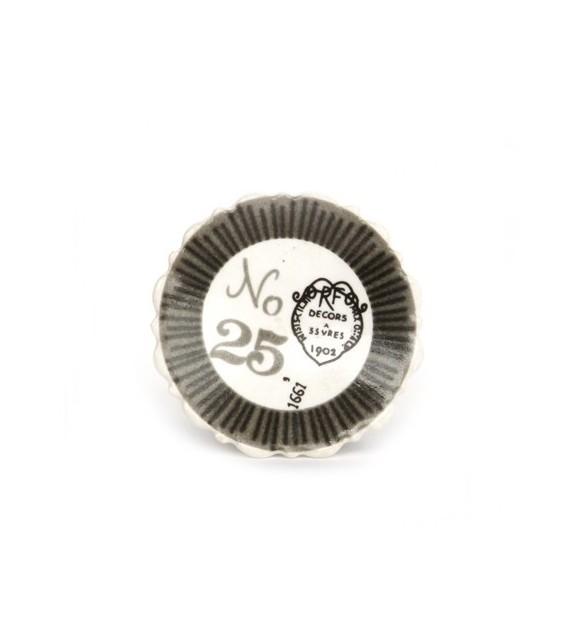 """Bouton de meuble impression """"Decors 1902"""" en porcelaine"""