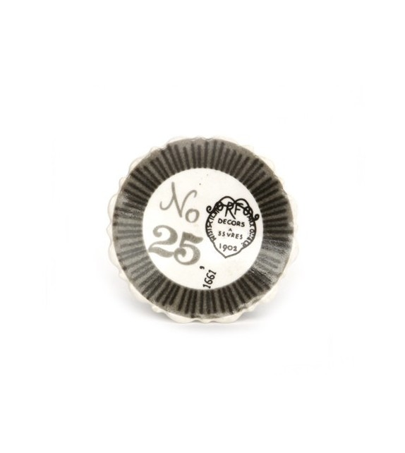 bouton de meuble impression decors 1902 en porcelaine boutons m. Black Bedroom Furniture Sets. Home Design Ideas