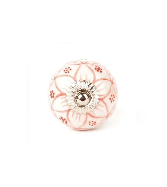 Bouton de meuble g ranium rond en porcelaine boutons - Bouton de meuble original ...