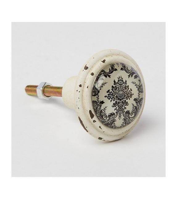 bouton de meuble baroque noir et blanc boutons. Black Bedroom Furniture Sets. Home Design Ideas