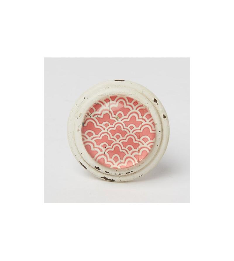 bouton de meuble essaouira cabochon rose boutons. Black Bedroom Furniture Sets. Home Design Ideas