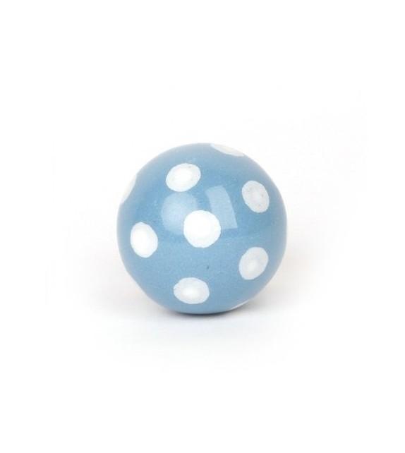 Bouton de meuble Bille à pois en porcelaine - Boutons Mandarine