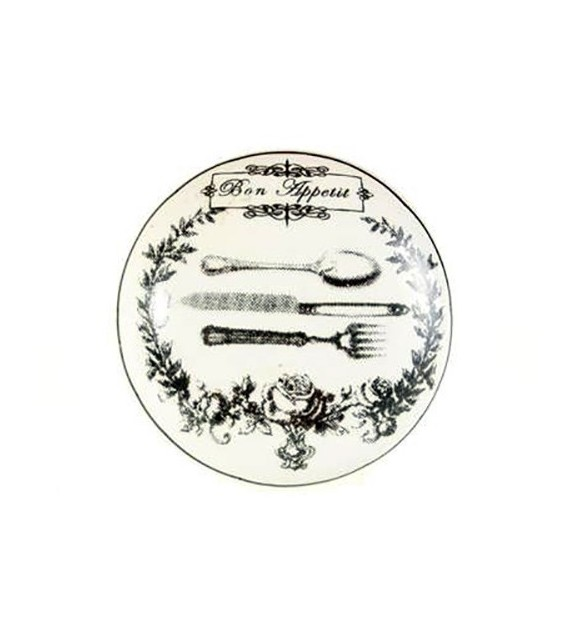 Bouton de meuble Bon Appétit en porcelaine - Boutons Mandarine