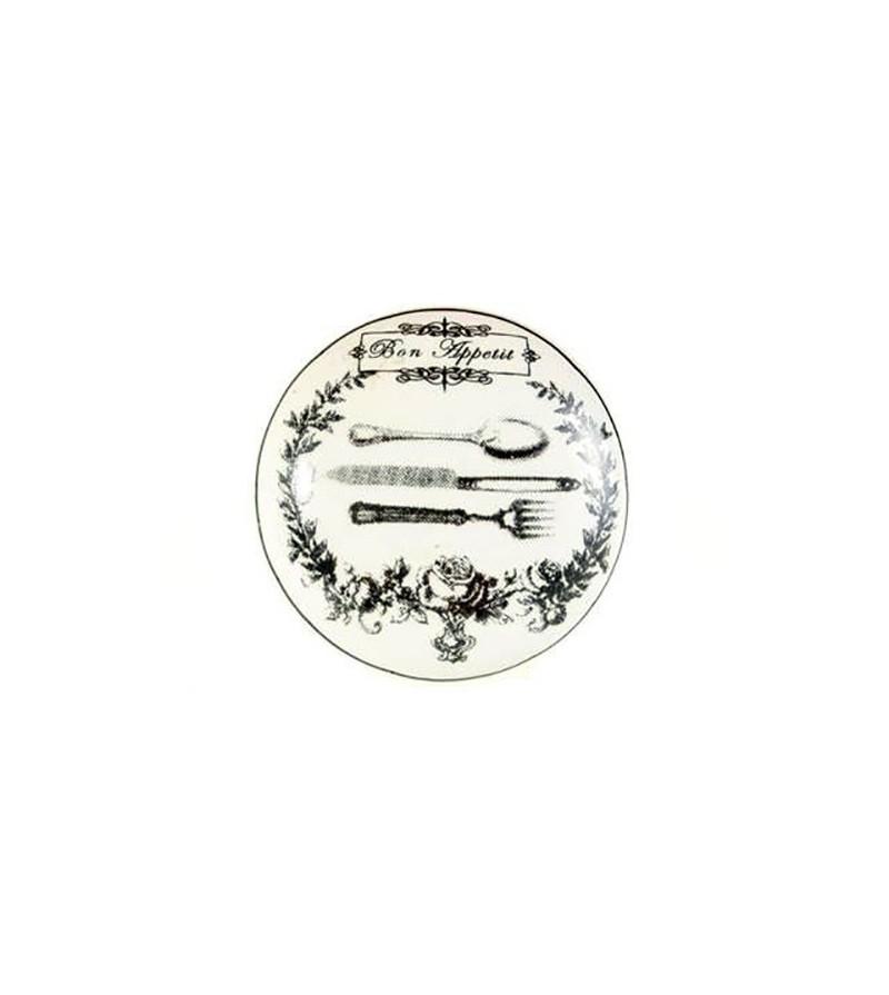 Bouton de meuble bon app tit en porcelaine boutons - Boutons et poignees de portes de cuisine ...