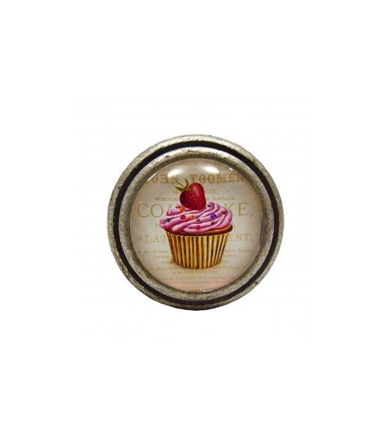 Bouton De Meuble Cupcake Rose La Fraise Boutons
