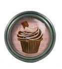 Bouton de meuble Cupcake Marron au Chocolat