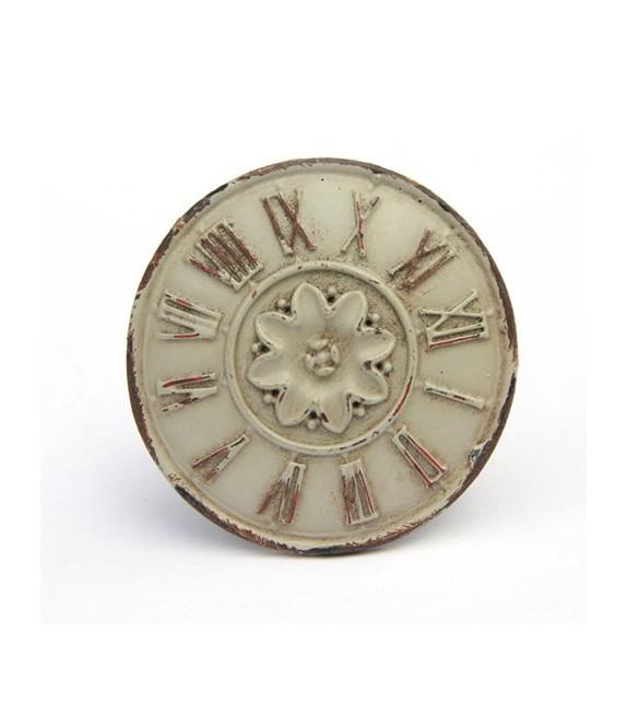 Bouton de meuble Horloge Shabby - Boutons Mandarine