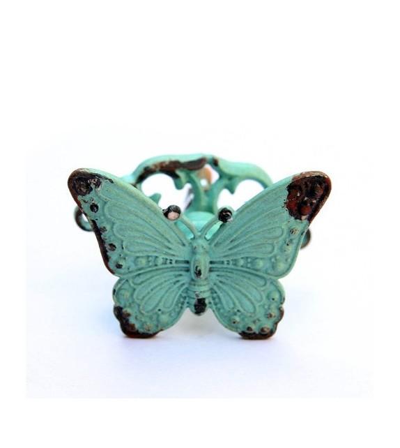 Bouton de meuble Papillon Shabby - Boutons Mandarine